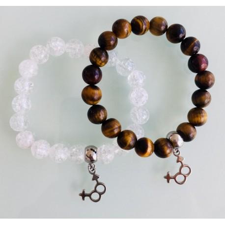 Deux Bracelets - Cristal + Œil de tigre